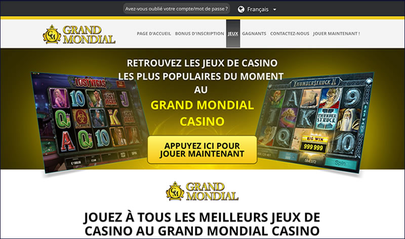 Grand Mondial Casino : Le Favori des Canadiens