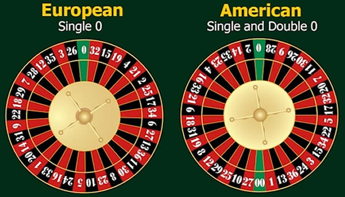Les 2 versions de roulette les plus populaires au casino.