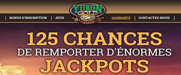 Yukon Gold: des jeux qui paient et des jackpots massifs