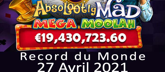 Mega Moolah record du monde