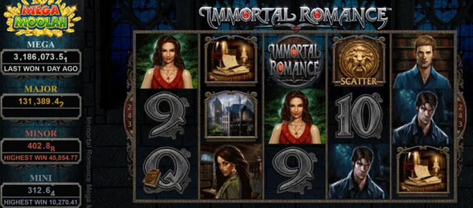 Immortal Romance du jeu Mega Moolah